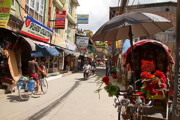 Rickshaws on the streets of Kathmandu, Nepal, Nepal, Asia