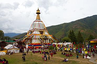 The Memorial Stupa of Bhutan's capital city of Thimphu, Bhutan, Asia