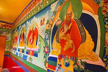 Dalai Lama painting, the Norbulingka Tibetan Institute of Tibetan Arts and Culture, Dharamsala, Himachal Pradesh, India, Asia