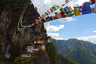 The Tiger's Nest Fortress of Paro, Bhutan, Himalayas, Asia