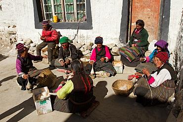 A village on the Tibetan/Nepal Border, Southern Tibet, China, Asia