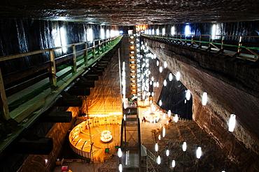 Rudolf Mine in Salina Turda salt mine in Turda city, Romania, Europe