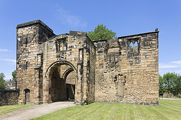The Gatehouse in ruins of Monk Bretton Priory, a Cluniac monastery founded in 1154 at Monk Bretton, Barnsley, South Yorkshire, England, United Kingdom, Europe