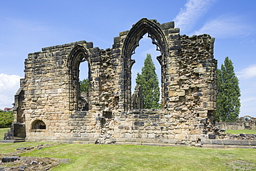 The ruins of Monk Bretton Priory, a Cluniac monastery founded in 1154 at Monk Bretton, Barnsley, South Yorkshire, England, United Kingdom, Europe