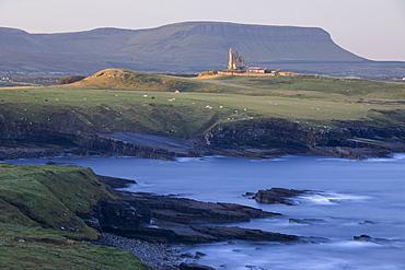 Mullaghmore Head and Classibawn Castle on the Wild Atlantic Way, County Sligo, Connacht, Republic of Ireland, Europe