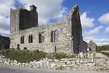 The ruins of Creevalea Abbey, County Leitrim, Connacht, Republic of Ireland, Europe