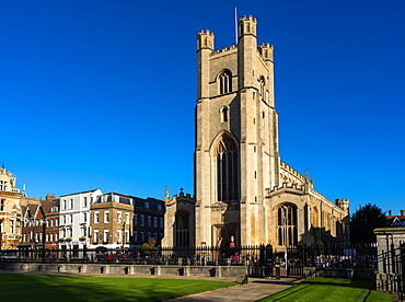 Great St. Marys Church next to Market Square and Kings Parade, Cambridge, Cambridgeshire, England, United Kingdom, Europe