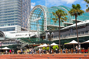 Harbourside, shopping and restaurants at Darling Harbour, Sydney, New South Wales, Australia, Pacific