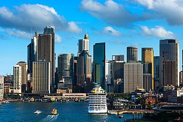 Sydney city skyline with Circular Quay, Sydney, New South Wales, Australia, Pacific