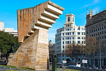 Francesc Macia Monument in the Placa de Catalunya in Barcelona, Catalonia, Spain, Europe
