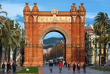 Arc de Triomf by Josep Vilaseca i Casanovas, Parc de la Ciutadella, Barcelona, Catalonia, Spain, Europe