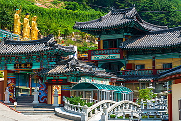 Buddhist temple in Busan, South Korea, Asia