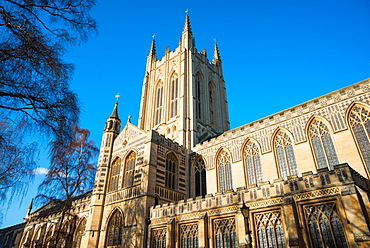 St. Edmundsbury Cathedral, the cathedral for the Church of England's Diocese of St. Edmundsbury and Ipswich, Bury St. Edmunds, Suffolk, England, United Kingdom, Europe