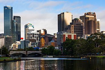 Melbourne city skyline, Melbourne, Victoria, Australia, Pacific