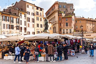 Campo de Fiori Market, Rome, Lazio, Italy, Europe