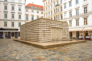 Judenplatz Holocaust Memorial (The Nameless Library), in the Judenplatz square, Vienna, Austria, Europe