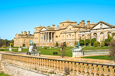 Holkham Home Stately home near the North Norfolk Coast, Norfolk, East Anglia, England, United Kingdom, Europe