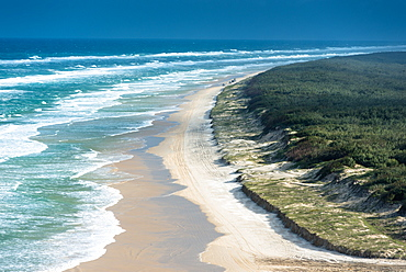 Views of 100 mile beach from Indian Head, Fraser Island, Queensland, Australia, Pacific