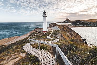 Castlepoint (Castle Point) Lighthouse, Wellington region, North Island, New Zealand, Pacific