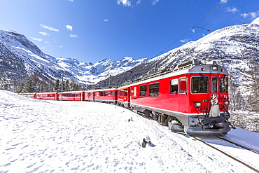 Bernina Express, Canton of Graubunden, Switzerland, Europe