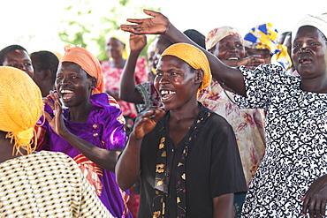 A group of women singing and dancing, Uganda, Africa