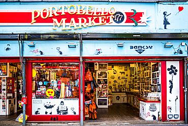 Portobello Road Market, Royal Borough of Kensington and Chelsea, London, England