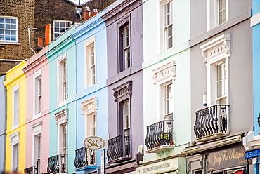 Portobello Road houses, Kensington, London, England, United Kingdom, Europe