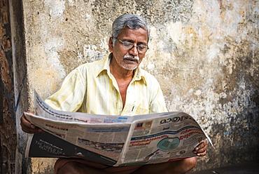 Portrait of an Indian man in Fort Kochi (Cochin), Kerala, India, Asia