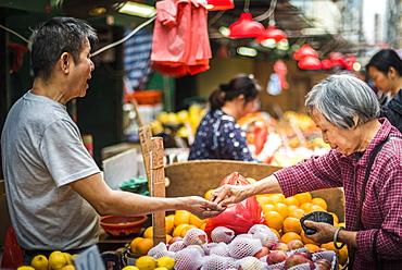 Market, Hong Kong Island, Hong Kong, China, Asia