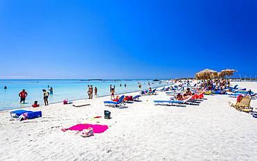 Elafonissi Beach, Chania region, Crete, Greek Islands, Greece, Europe