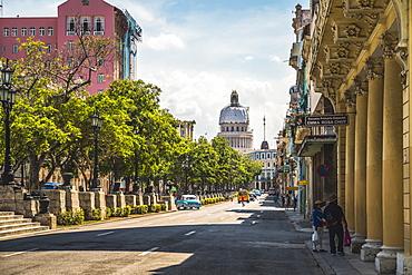 El Capitolio and Paseo del Prado in La Habana (Havana), Cuba, West Indies, Caribbean, Central America