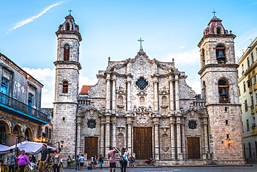 La Catedral de la Virgen Maria in La Habana Vieja, UNESCO World Heritage Site, Plaza de la Catedral, Old Havana, Cuba, West Indies, Caribbean, Central America