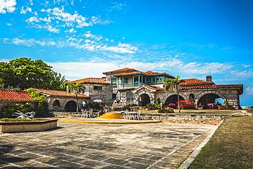 The restaurant Le Casa de Al and house of Al Capone, Varadero, Hicacos Peninsula, Matanzas Province, Cuba, West Indies, Central America