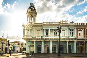 Casa de Cultura in the Palacio Ferrer, Plaza Jose Marti, Cienfuegos, UNESCO World Heritage Site, Cuba, West Indies, Caribbean, Central America