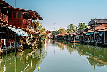 Emtpy Amphawa Floating Market, Bangkok, Thailand, Southeast Asia, Asia