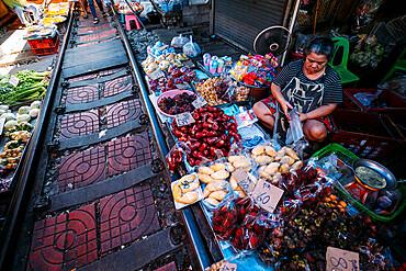 Maeklong Railway Market, Bangkok, Thailand, Southeast Asia, Asia