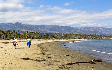 Santa Barbara beach, Malibu Mountains, California, United States of America, North America