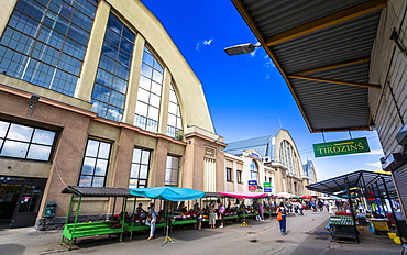 Exterior of Riga Central Market, Riga, Latvia, Baltic States, Europe