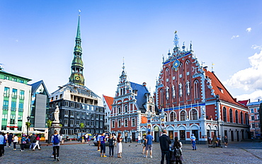 House of Blackheads (Guildhall), UNESCO World Heritage Site, Old Riga, Latvia, Baltic States, Europe