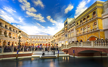 Inside The Grand Canal Shoppes, The Strip, Las Vegas Boulevard, Las Vegas, Nevada, United States of America, North America