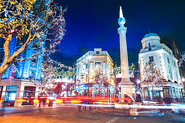 Seven Dials, Covent Garden at night, London, England, United Kingdom, Europe