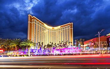 Treasure Island at night, The Strip, Las Vegas Boulevard, Las Vegas, Nevada, United States of America, North America
