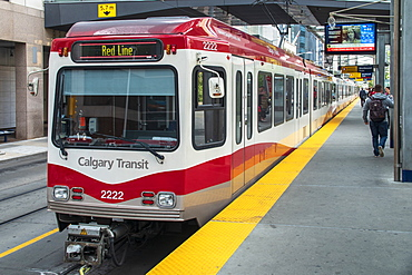 Downtown Calgary train station, Alberta, Canada, North America