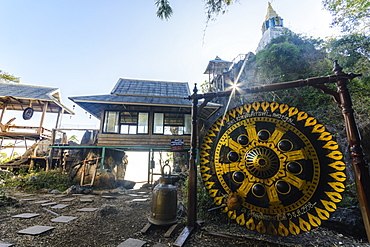 The Floating Pagodas of Wat Chaloem Phra Kiat Phrachomklao Rachanusorn Temple, Lampang, Thailand, Southeast Asia, Asia - 1281-10