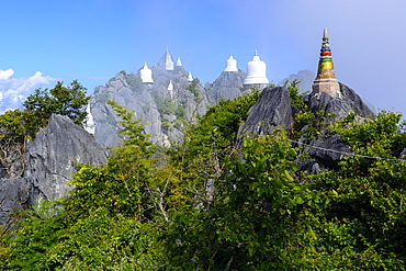 The Floating Pagodas of Wat Chaloem Phra Kiat Phrachomklao Rachanusorn Temple, Lampang, Thailand, Southeast Asia, Asia - 1281-12