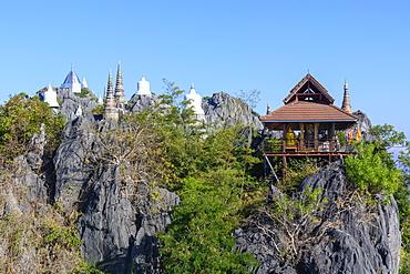 The Floating Pagodas of Wat Chaloem Phra Kiat Phrachomklao Rachanusorn Temple, Lampang, Thailand, Southeast Asia, Asia - 1281-8