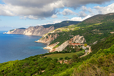 Monastery of Kipoureon on the west side of the Paliki Peninsula, Kefalonia, Ionian Islands, Greece, Europe