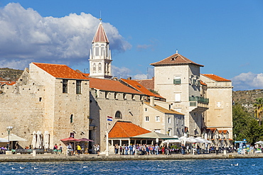 Cityscape of the old town of Trogir, UNESCO World Heritage Site, Croatia, Europe