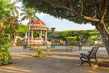 The main square of Granada at first sunlight, Granada, Nicaragua, Central America
