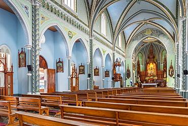 Interior of the Maria Auxiliadora Church in Granada, Nicaragua, Central America